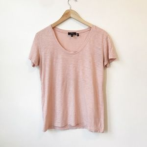 Theory Blush Pink Short Sleeve Tee Size Small